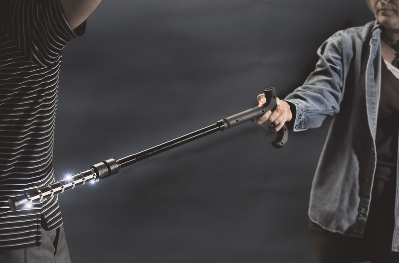 Stun Gun Walking Cane