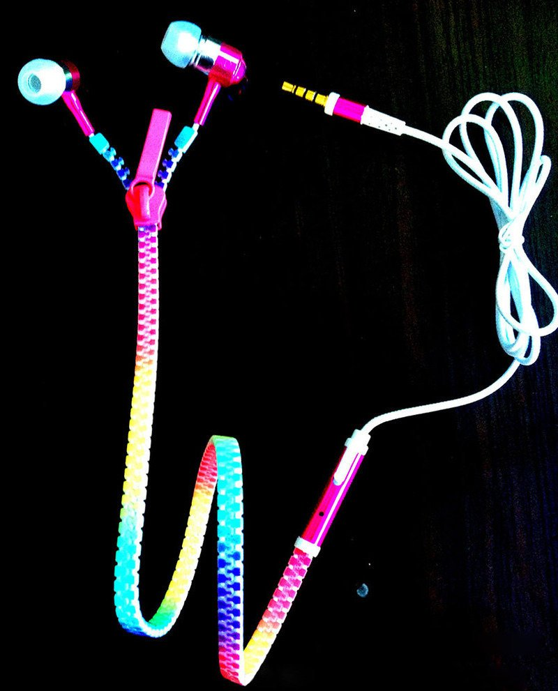 LED Zipper Ear Buds
