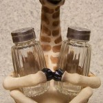 Giraffe Salt & Pepper Holder