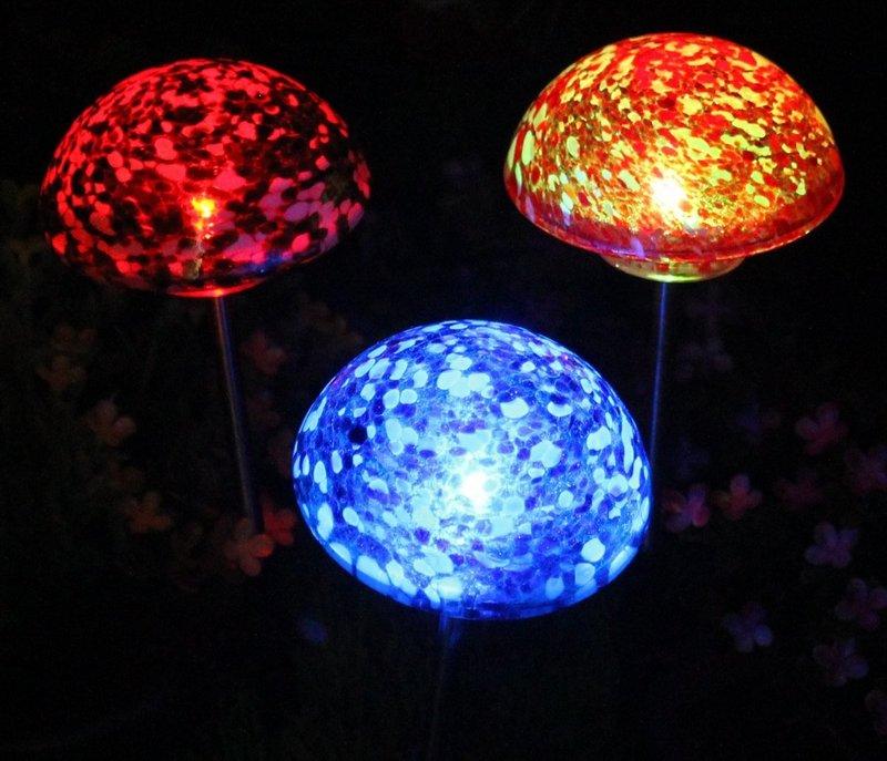 Solar Mushroom Garden Lights