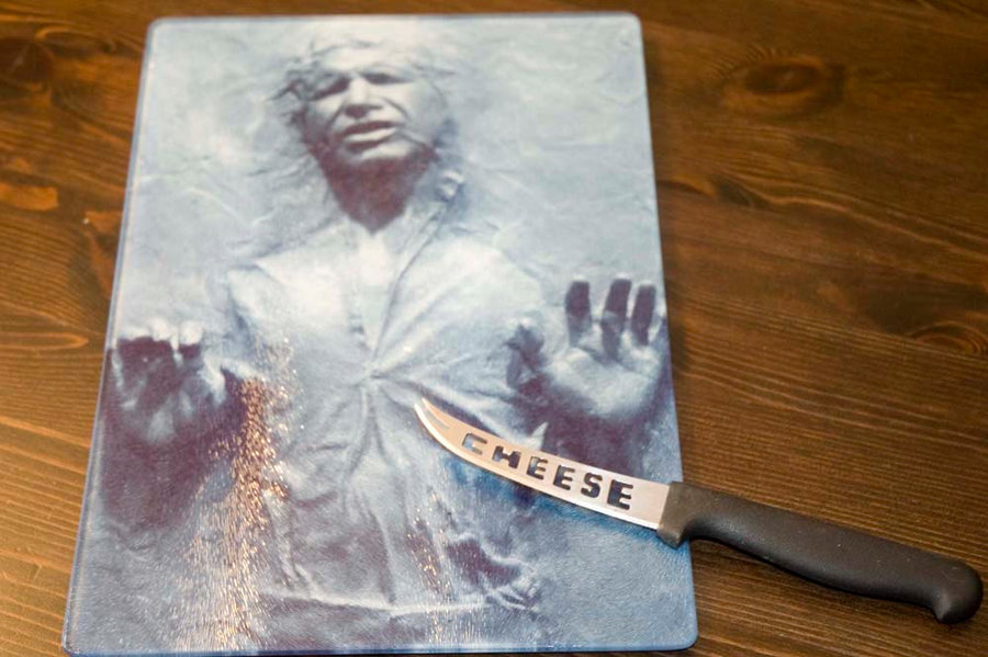 Han Solo Glass Cutting Board