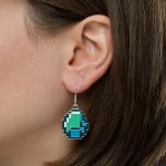 Minecraft Diamond Earrings