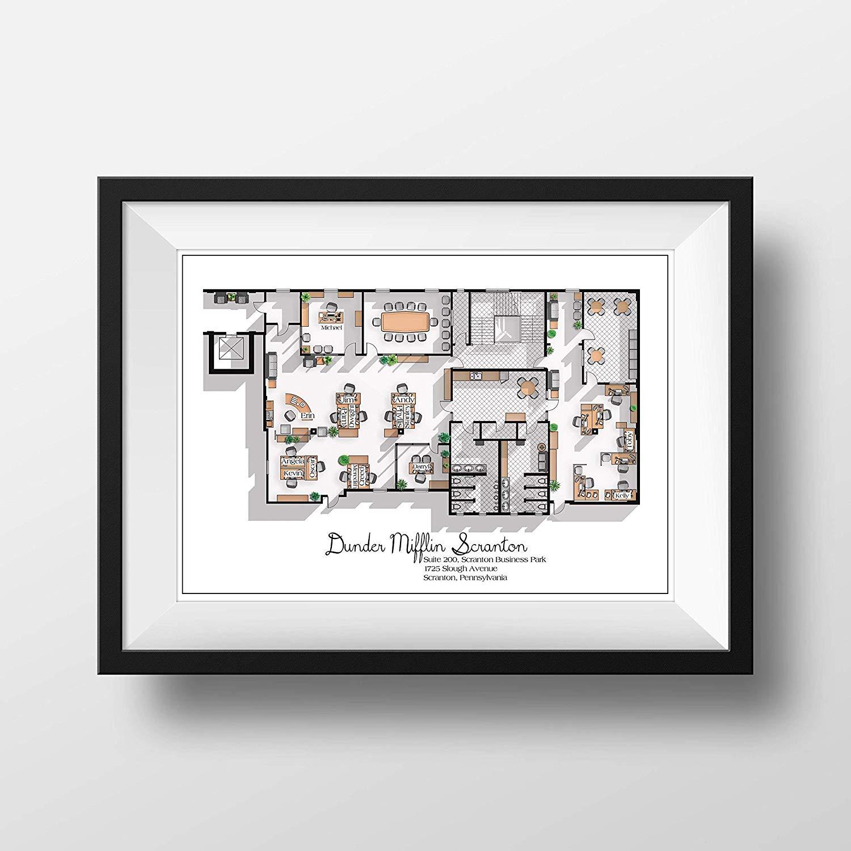 Dunder Mifflin Office Floor Plan Print